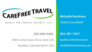 Carefree Travel business card